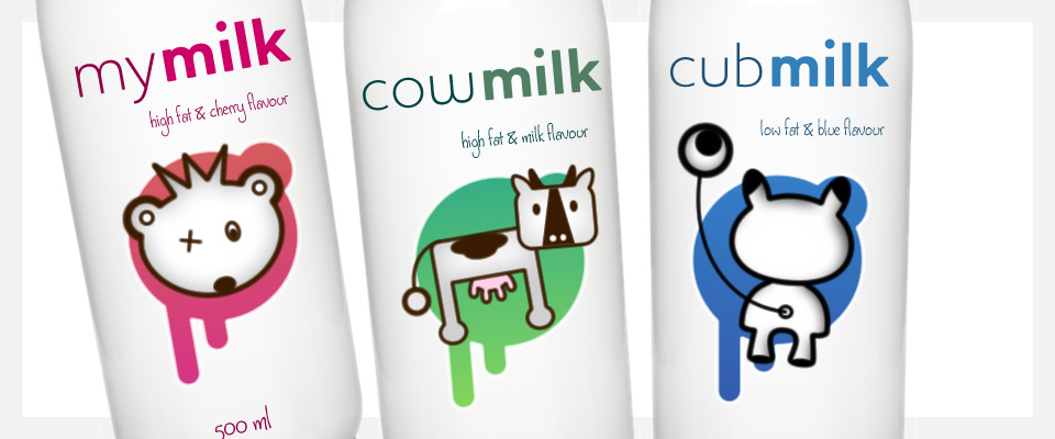 mymilk cowmilk cubmilk living product identities