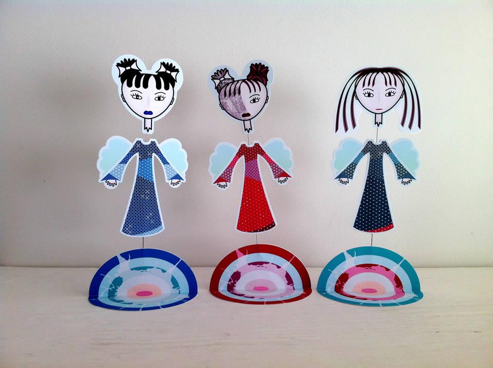 Cutout Triple Miss B'Head Ghosts