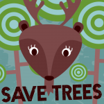 deer in a forest wants to save the trees