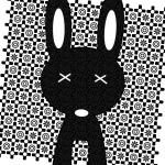 rabbit on pattern