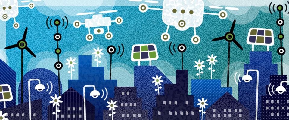 smart city sky
